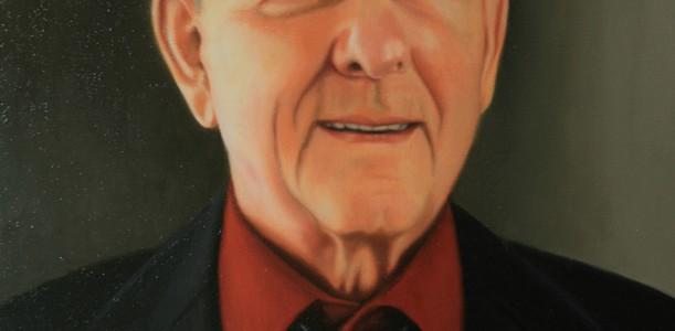 Portrait à l'huile sur toile exécuté par Suzanne Goudreau