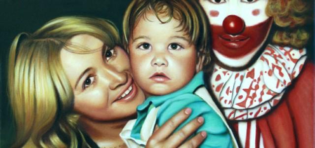 Portrait de famille à l'huile exécuté par Suzanne Goudreau